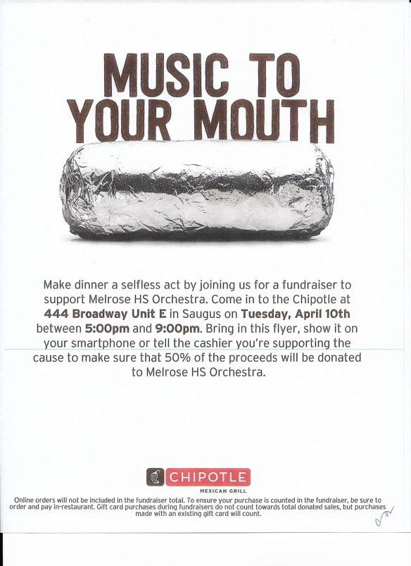 Chipotle flyer 2018